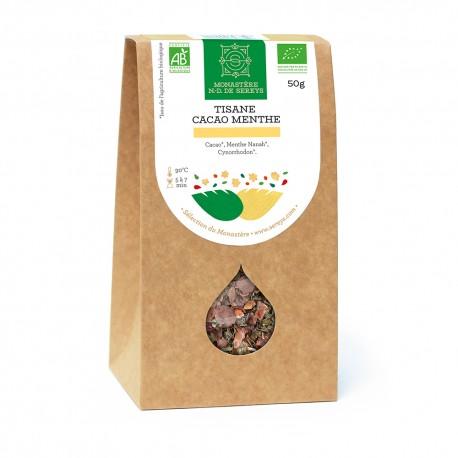 Tisane Cacao Menthe Bio, 50 grammes
